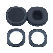 1Pair Soft Sponge Ear Pads Earpads Leather Ear Cushion Replacement for Marshall MID ANC Bluetooth Headphones replacement ear pads cushion headset earpads for marshall major on ear headphones black
