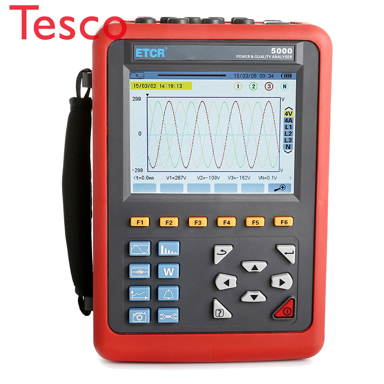 Advanced electrical power quality measurement and analysis instrument with accuracy 0.5 power quality analyzer meter