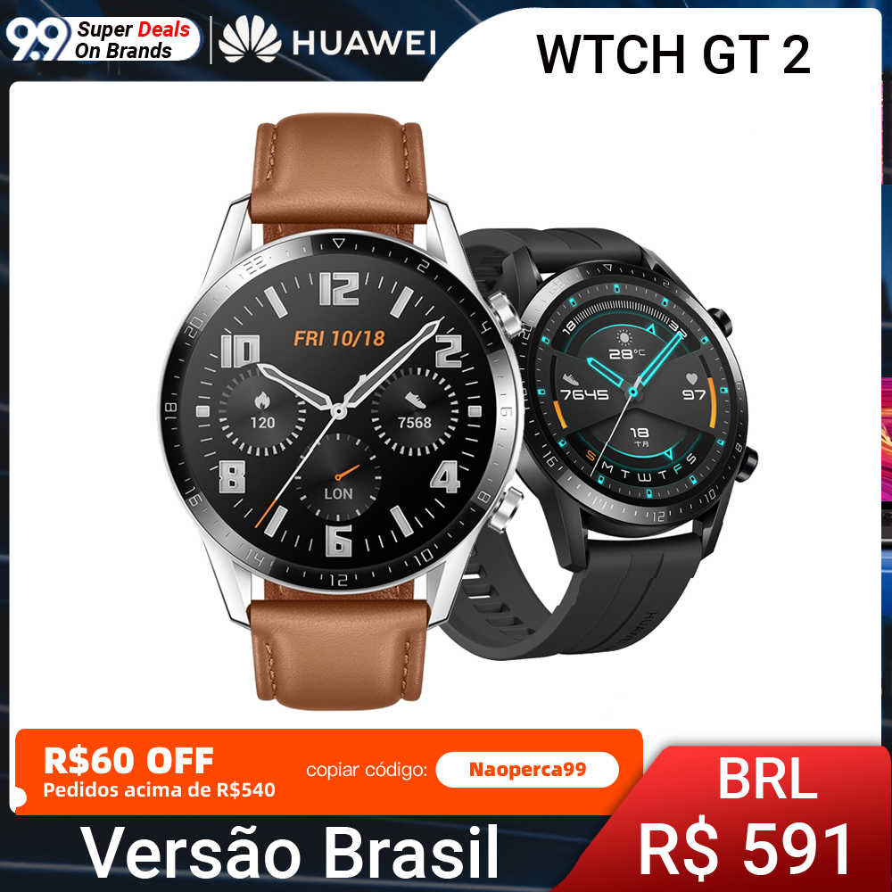 In stock Huawei Watch GT 2 Smart watch Bluetooth 5.1 Smartwatch Blood Oxygen 14 Days Phone Call Heart Rate For Android iOS