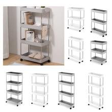 Cremalheira de armazenamento do banheiro 2/3/4 camadas cozinha armário estreito sala estar prateleira móveis móveis móveis rodas prateleira ^ *