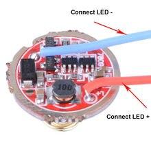 Circuit imprimé de pilote monomode, 20mm 3-15V, pièces de bricolage pour Q5 T6 U2 L2 XPL 18650 26650