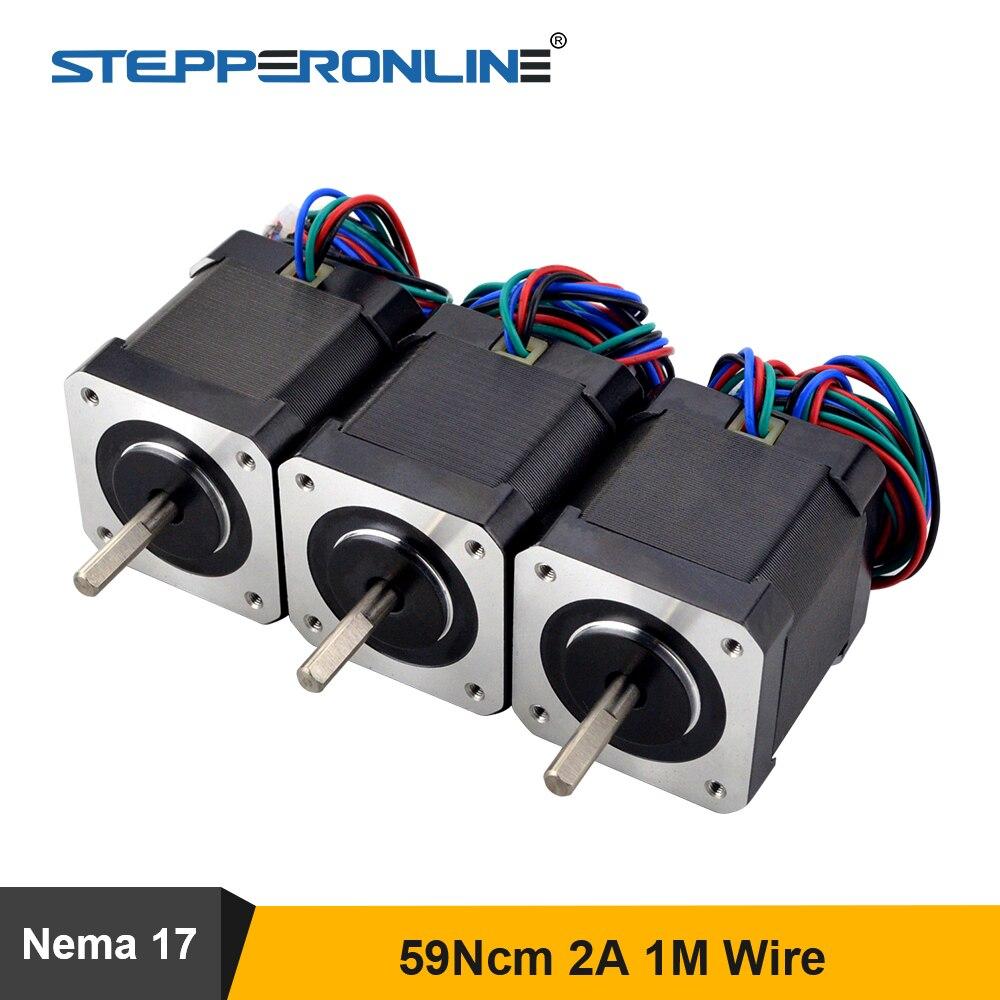 Шаговый двигатель Nema 17 48 мм, 59nсм (84 унции), шаговый двигатель Nema17 17HS19-2004S1 2A 42, двигатель BYGH, 4-свинцовый для 3D принтера с ЧПУ