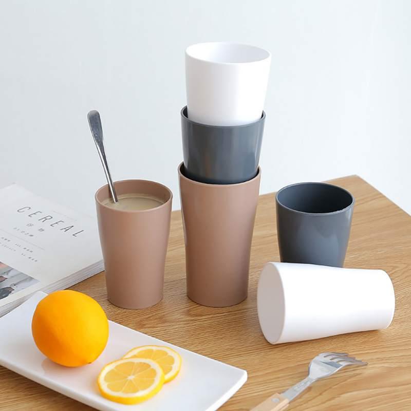 Модная японская стильная чашка для зубных щеток в ванной простой стакан Трехцветная зубная щетка для полоскания рта однотонная чашка