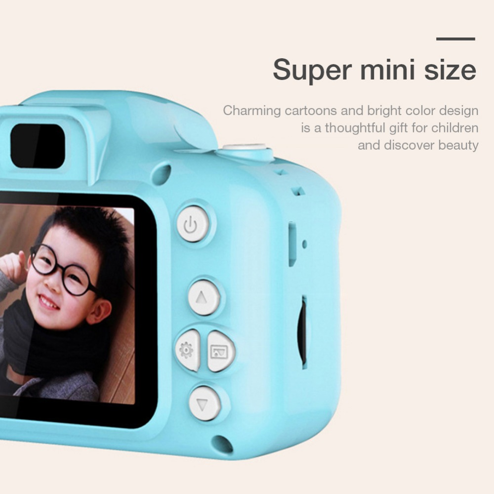 Hd0aa7d3688d54d1985170698984fd611w Rechargeable Kids Mini Digital Camera 2.0 Inch HD Screen 1080P Video Recorder Camcorder Language Switching Timed Shooting #S