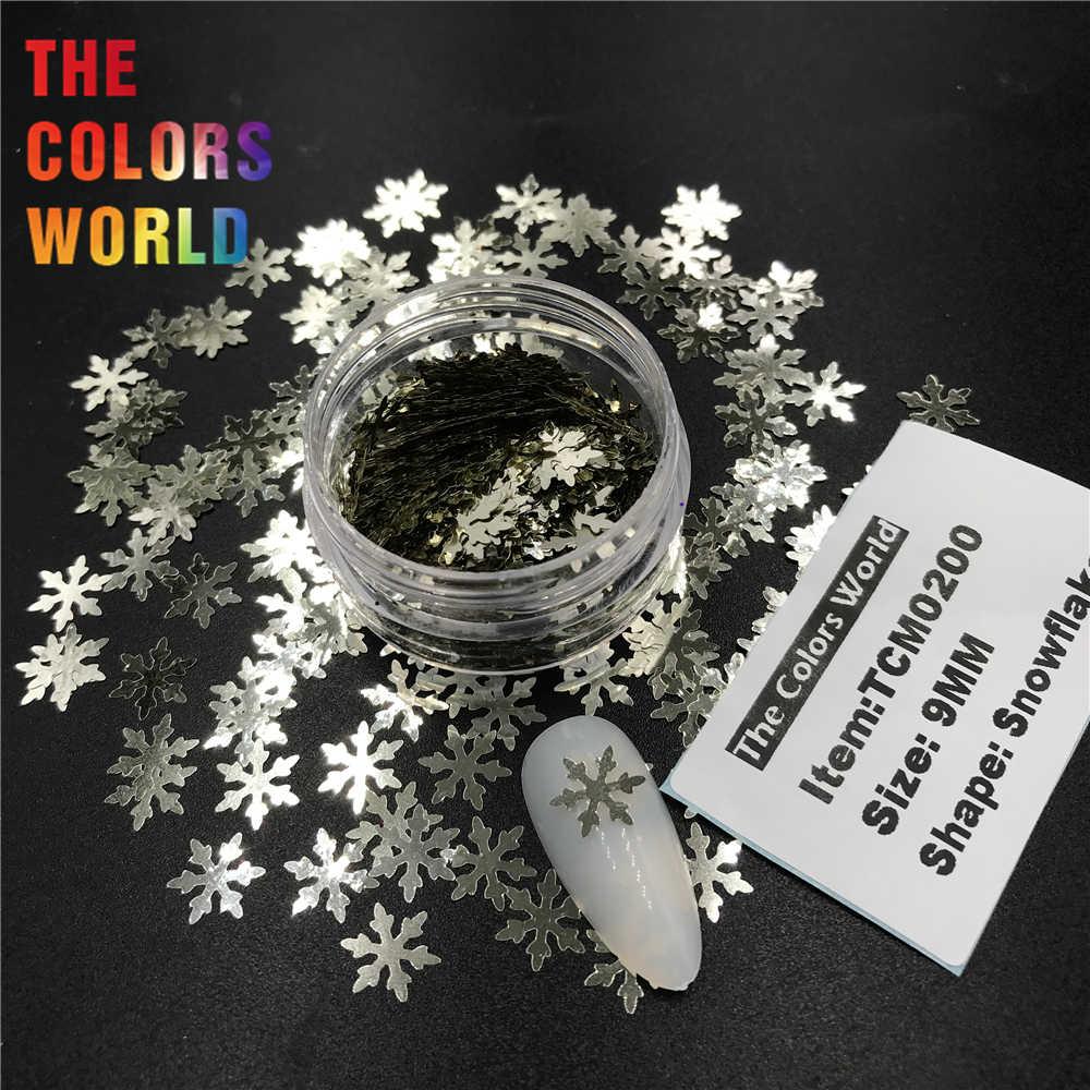 TCT-371 śnieżynka 9MM paznokci brokat zdobienie paznokci dekoracje paznokci żel makijaż boże narodzenie Tumblers Craft Handmade Accessoires Festival