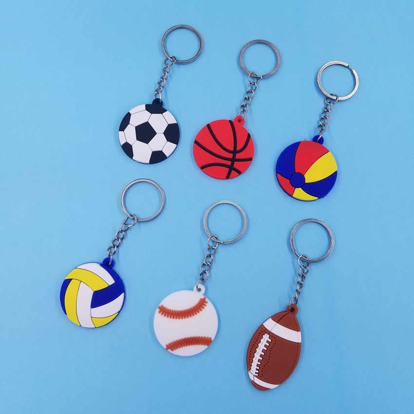 Basket Sepak Bola Bola Pantai Bisbol Gantungan Kunci Wanita Anak Anak Gadis Hadiah Tas Sekolah Tas Dompet Gantungan Kunci Liontin KC268
