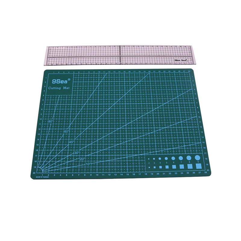 1 Pcs Cutting Ruler A3 Or A4 Cutting Mat Or Patchwork Ruler Arts Crafts Sewing DIY Knife Pad Student Stationery Mat Scale Ruler