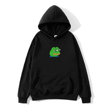 2021Harajuku Hip Hop Hoodies Sweatshirt Male Japanese Fashion Casual Hoodie Sad Tearing Frog Print Hoodies Men Hooded Sweatshirt sad tearing frog print basic hoodies women hooded sweatshirts harajuku hip hop hoodies sweatshirt japanese streetwear hoodie