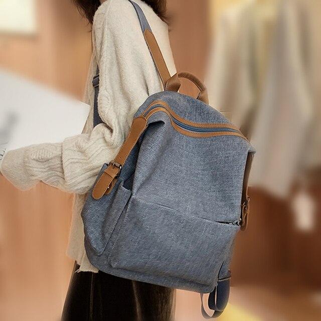 جديد Vintage المرأة على ظهره حقيبة كتف الإناث متعددة الأغراض حقيبة أنيقة ذات سعة كبيرة مدرسة حقيبة ظهر للفتيات كيس دوس