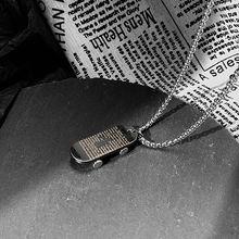 Длинное ожерелье из нержавеющей стали для мужчин и женщин цепь