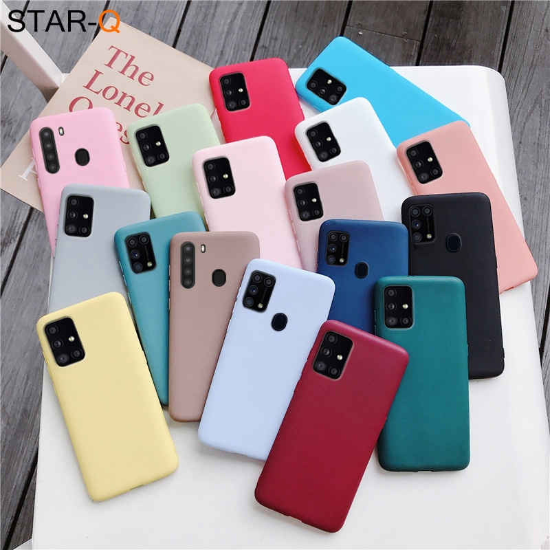 candy color silicone phone case for samsung galaxy a51 a71 5g a31 a11 a41 m51 m31 a21s a91 A81 A01 matte soft tpu cover