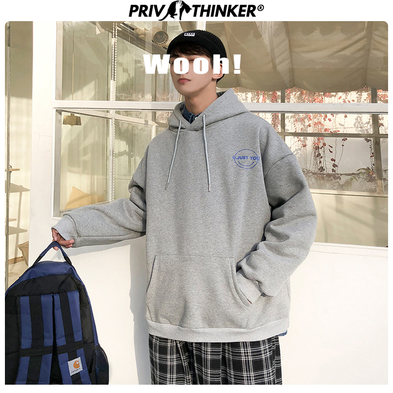Privathinker Men's Printed Spring Autumn Hoodies Men 2020 Thick Warm Fashion Sweatshirt Male Collage Colorful Clothes Hooded