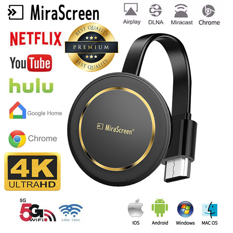 G14 TV Stick Miracast 5G Wireless Screen Projector Wireless Wifi Mirascreen Hdmi Dongle Ezcast 4k For Youtube Google Chromecast