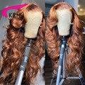 Блонд хайлайтер кружева передние бразильские человеческие волосы с ребенком волна тела 4x4 кружево Передние Реми 180 плотность для женщин вол...