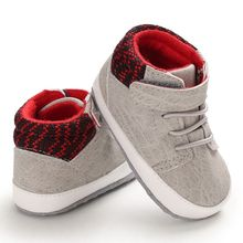 Baby shoes Infant toddler baby Boy Girl Shoes Soft Sole Moccasins Canvas First Walkers Slip-On Sport #25