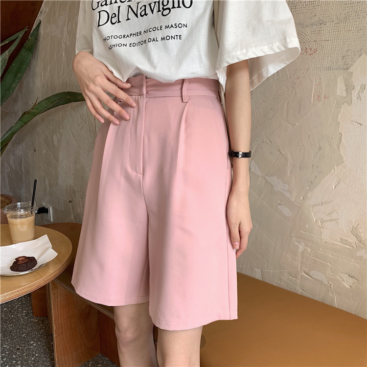 Hd0ab4a8d9c61471ab620496c74b78aab6 - Summer High Waist Wide Leg Loose Solid Shorts