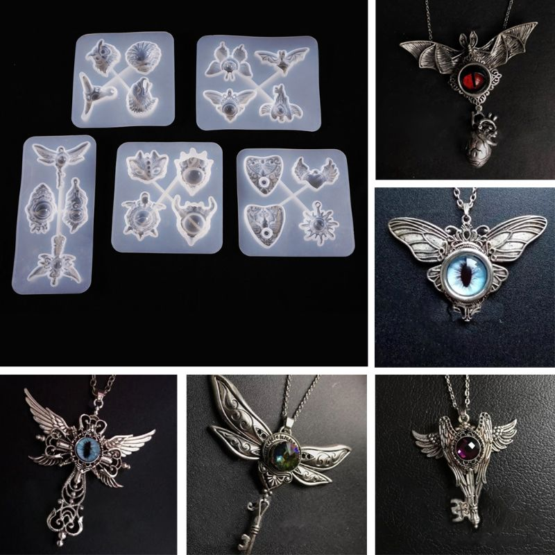 Silicone Pentagram Resin Casting Mold Pendant Necklace Making Epoxy Craft DIY