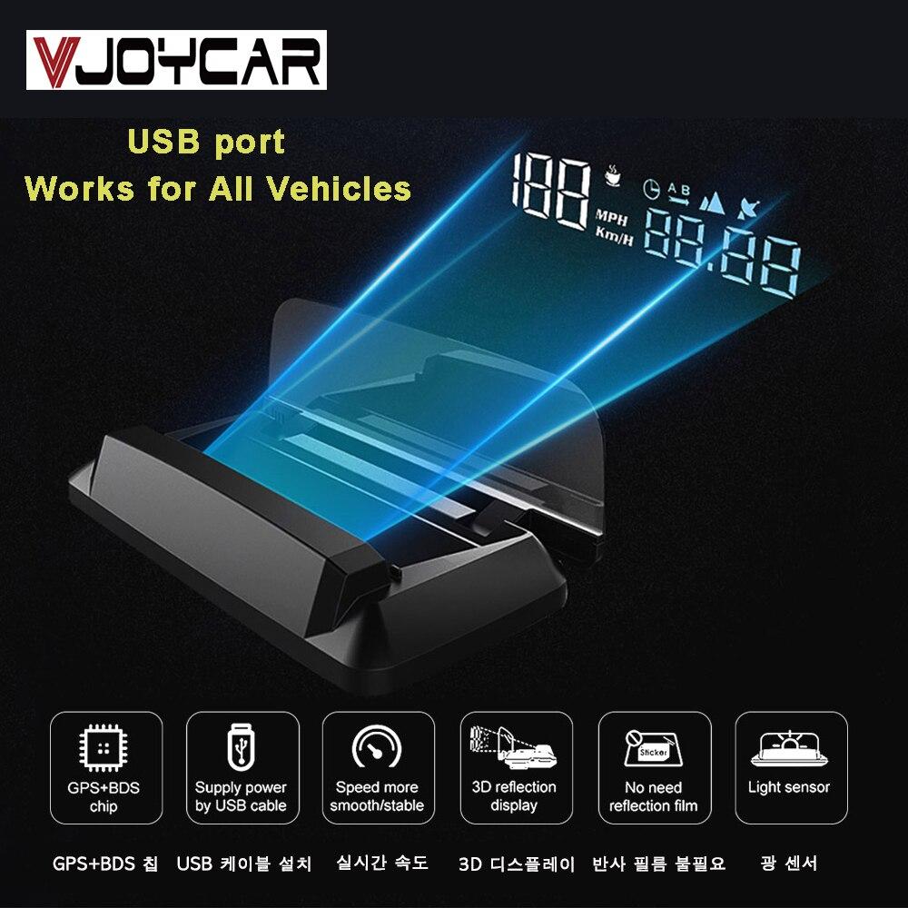Auto Gps Digitale Snelheidsmeter Kmh Mph Hud Automotive Head Up Display Voertuig Motorfiets Boot Fiets Tijd Hoogte Speed Meter Vol.