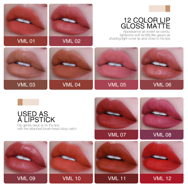 O.TWO.O Matte Lipstick Liquid Waterproof Long Lasting Velvet Lip Gloss Makeup Smooth Pigment Lip Tint Red Lips Cosmetics 1