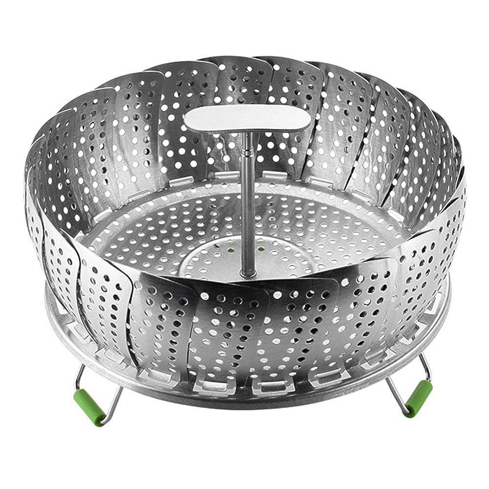 9/11inch Stainless Steel Folding Food Steamer  Vegetable Steamer Extendable Kitchen Supplies