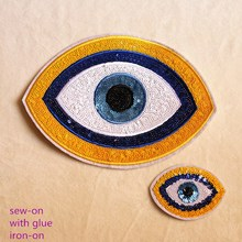 Patch Fabric Patch Embroidery Sequins Eye Patch Denim T-shirt Decoration Patch Diy Hole Repair Accessories elbow patch contrast trim t shirt