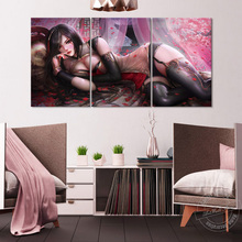 League of Legends Game Poster Katarina Wall Picture Artwork Painting Home Decor Sexy Girl Pictures LOL Figure Sticker