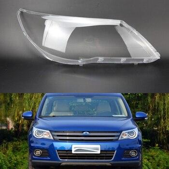 2 pcs LENS lampshade Front headlight cover Headlight transparent housing Headlight protection  for TVolkswagen Tiguan 2009-2012