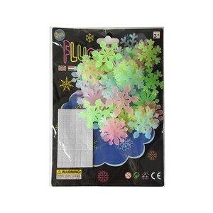 Image 5 - 50 sztuk 3D Snowflake Luminous naklejka ścienna fluorescencyjny blask w ciemności naklejka dla Homw dzieci pokój sypialnia boże narodzenie wystrój