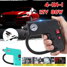 Air-Compressor-Pump Safety-Hammer Tyre-Inflator Motorcycle Electric Auto LED Car 12V
