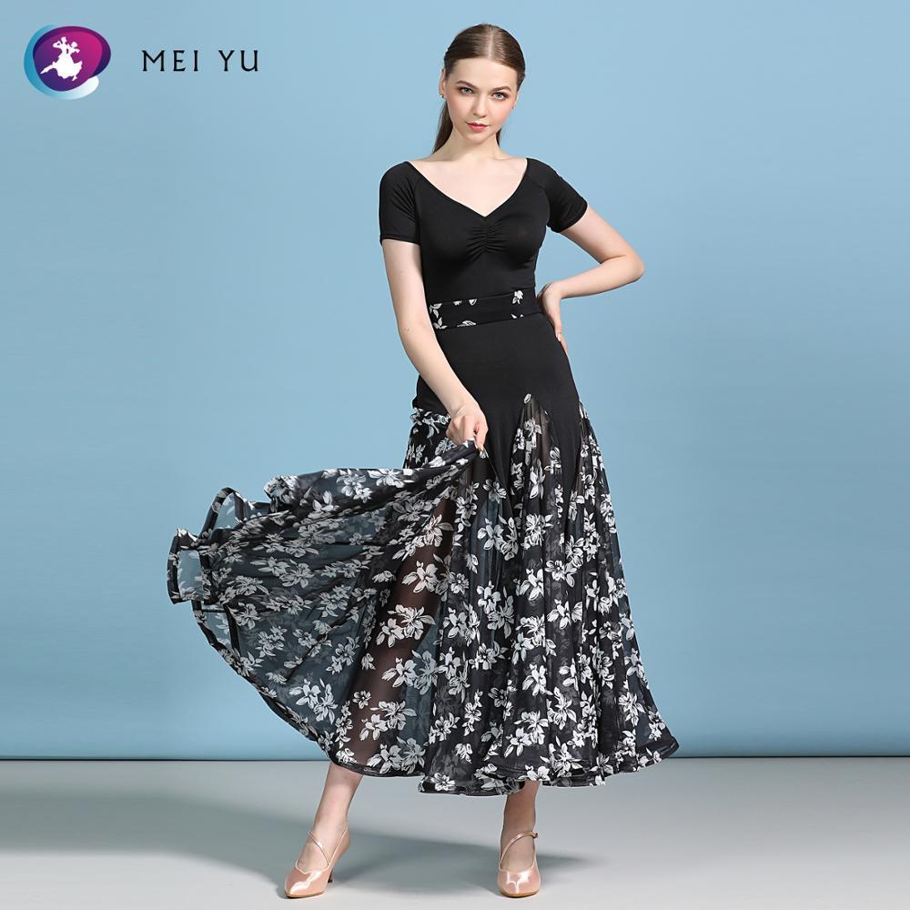 MEIYU MY810 Modern Dance Costume Women Ladies Adults Dancewear Waltzing A-line Dress Ballroom Costume Evening Party Dress