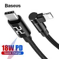 Baseus 18W Usb Cavo C per Ip Iphone 11 Pro Max Xr Usb Pd Veloce Cavo di Ricarica per Iphone 8 Più di X Gomito Cavo Dati Usb