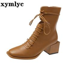 2020 элегантные туфли на квадратном каблуке средней высоты;