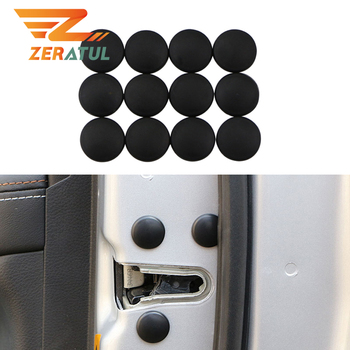 For Mitsubishi Outlander ASX Lancer EX L200 Mirage Pajero Galant 12pcs/Set Car Door Lock Screw Protector Cover Accessories image