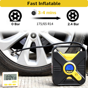 Image 2 - Deelife ดิจิตอลยางรถยนต์ Inflatable ปั๊มเครื่องอัดอากาศแบบพกพาแบบอัตโนมัติสำหรับรถยนต์ล้อยางไฟฟ้า 12V Mini Inflator ยาง