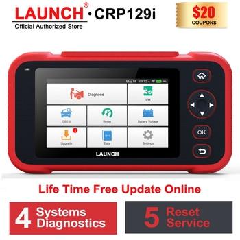 цена на LAUNCH X431 CRP129i OBD2 Auto Scanner automotivo OBD2 Engine Code Reader SAS Airbag SRS Oil Reset Creader LAUNCH OBD Free Update