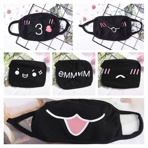 1PCS Cotton Dustproof Cute Mouth Face Mask Anime Cartoon Kpop Style Women Men Muffle Face Mouth Masks Fashion 2019Hot