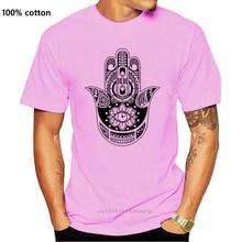 Женская футболка с коротким рукавом Hams and Khamsa hand Yoga Love Peace Symbol, 3 4