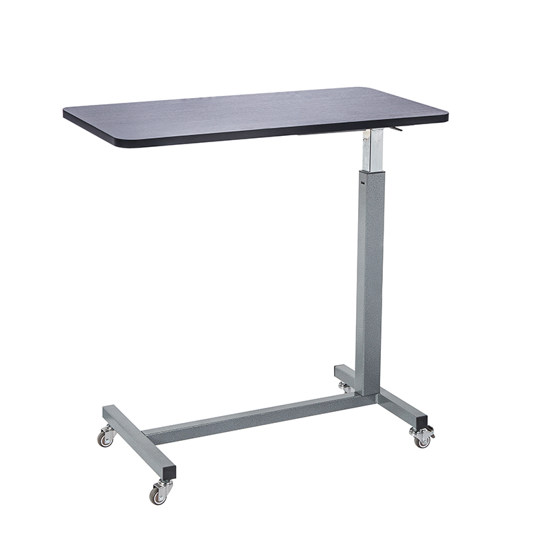 Mobile care table pneumatic lift bedside table lazy computer table bed elderly patient bed table medical table
