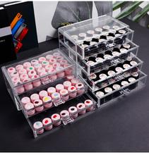 3 4 layernail artystyczna dekoracja akcesoria przechowywanie koralików Case przezroczyste akrylowe kosmetyczne pudełko z biżuterią organizery szuflad tanie tanio CN (pochodzenie) Z tworzywa sztucznego Ekologiczne Skrzynki i pojemniki Japan style