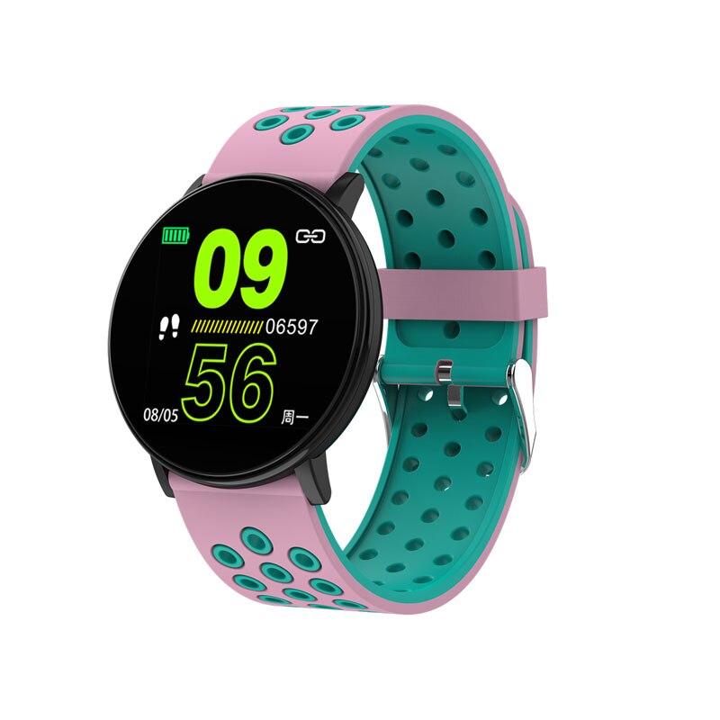 Спортивные Смарт-часы для мужчин, водонепроницаемые Смарт-часы для измерения артериального давления для женщин, монитор сердечного ритма, Bluetooth, умные часы для Android IOS - Цвет: W8C Pink