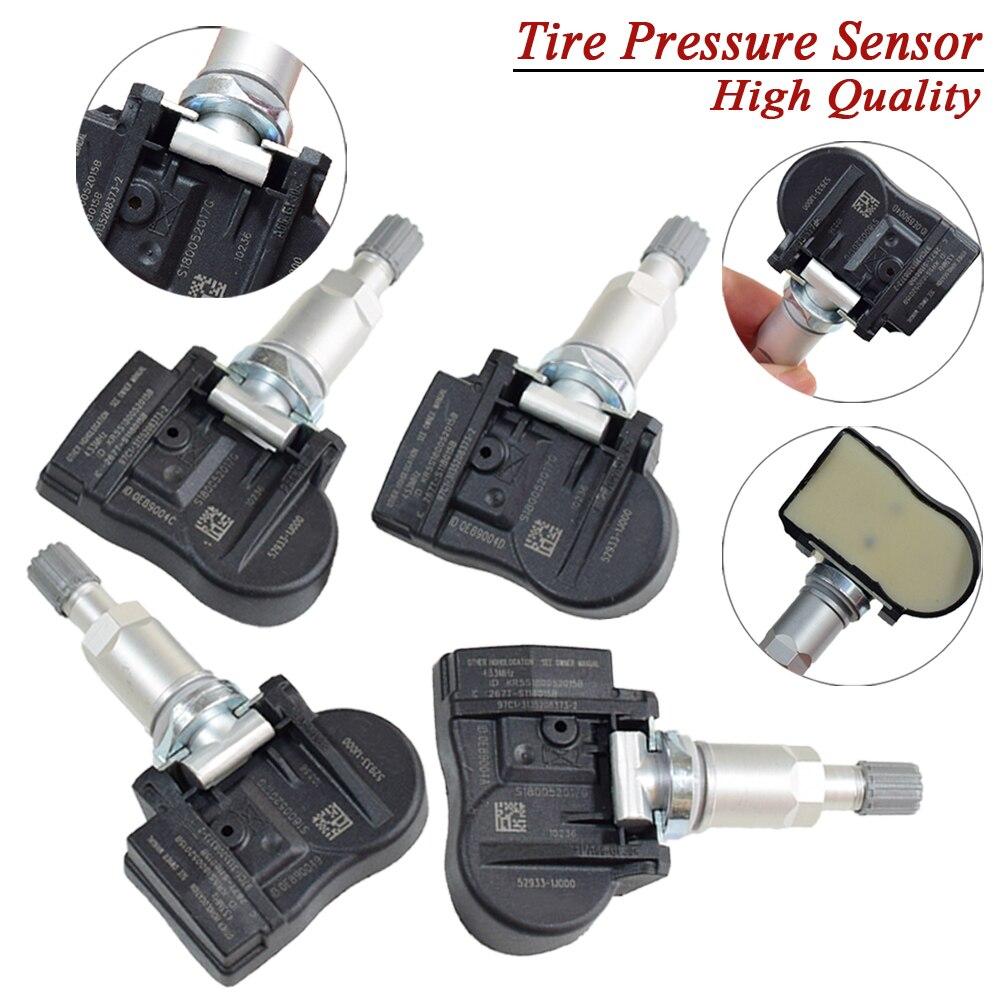 4Pcs 52933-1J000 529331J000 433MHz TPMS Reifendruck Überwachung Sensor Für Hyundai I20 IX20 Kia Optima Sorento Seele Venga