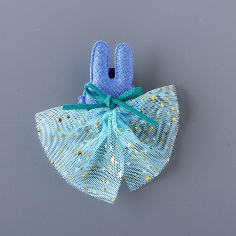 子供のかわいい韓国語バージョンのネットメッシュ小熊バニーヘアピンクリップ王女ヘアアクセサリー手作り帽子