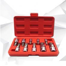 Durable 10 Pcs Rustproof 12 Point MM Triple Square Spline Bit Steel Tools Set High Hardness Sheet Metal Tools Set