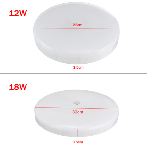 12 w 18 w led pir sensor
