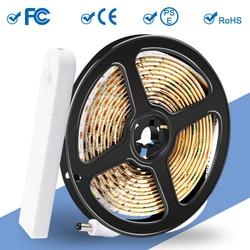 5V taśma Led z usb lampa Led z czujnikiem ruchu taśma Led 220V elastyczne oświetlenie wstążka ue US wtyczka Cocina sypialnia lampki nocne 110V w Oświetlenie mebli od Lampy i oświetlenie na