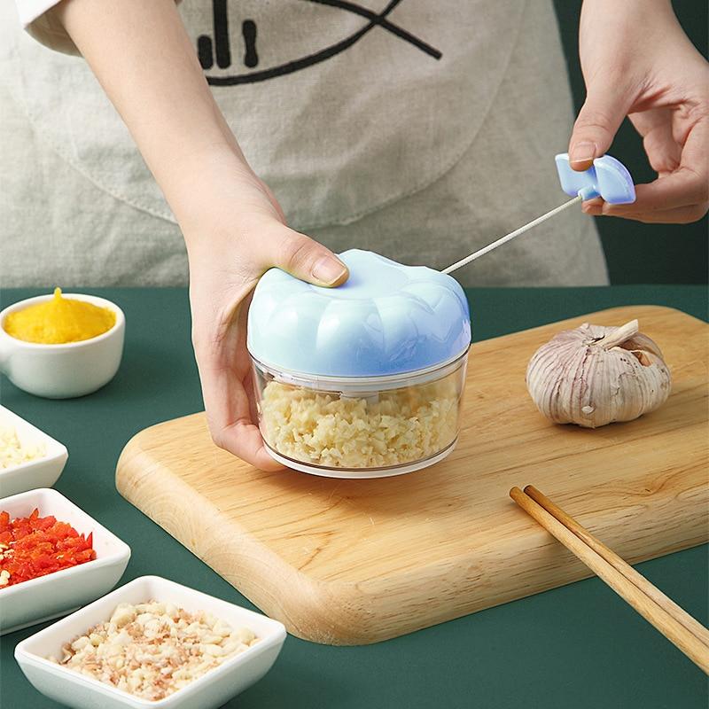 Домашний маленький чесночный режущий артефакт, кухонный изысканный измельчитель ручной работы, мясорубка, миксер, кухонная утварь, 170 мл