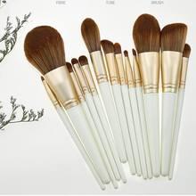 13 шт кисти для макияжа легкие синтетические волокна кисть теней