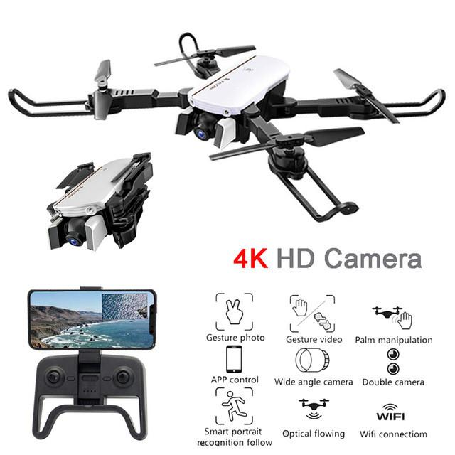 1808 RC Drone 4K 1080P Wide Angle WiFi FPV Camera Optical Flow Positioning Altitude Hold Gesture Control RC Quadcopter RTF