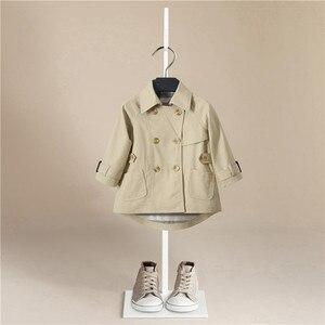 Зимние куртки для мальчиков; Однотонный шерстяной двубортный плащ для маленьких мальчиков; Детская верхняя одежда с лацканами; Пальто; Ветр...