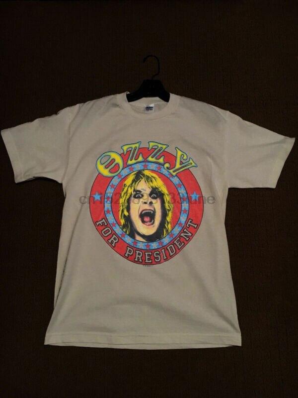 Rare Vintage Ozzy Osbourne For President Vintage 1984 Shirt.Usa Size